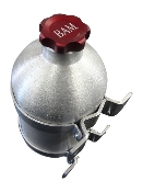 "6.5"" x 12"" Spun Aluminum Vertical Gas Tank 1.2 Gallon "" No Welds"