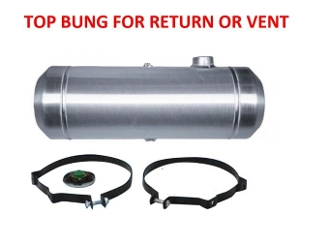 8x30 End Fill - 6 Gallon - Top 3/8 NPT Bung for Return or Vent
